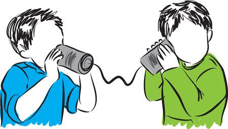 communication concept: kids communication concept illustration