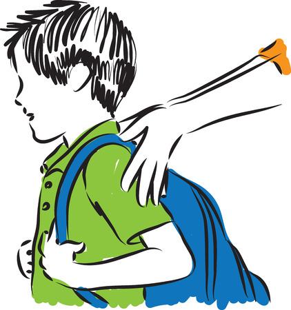 children studying: boy back to school illustration Illustration