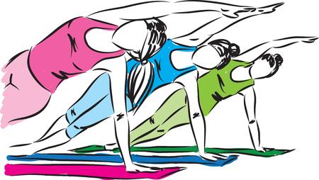 Fitness-zen Frauen Konzept Illustration Vektorgrafik