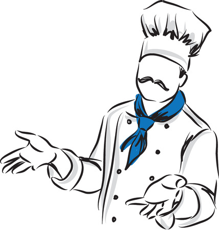 master: master chef posture illustration