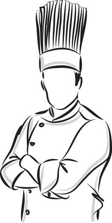 master chef: man master chef illustration