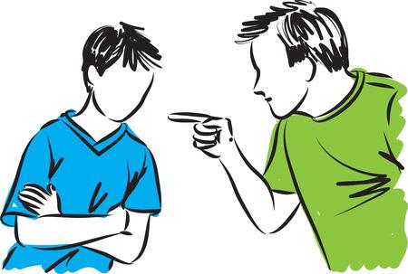 ojciec i syn rodzice dyscyplinuje ilustracji Ilustracje wektorowe