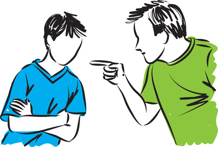 vader en zoon ouders disciplines illustratie