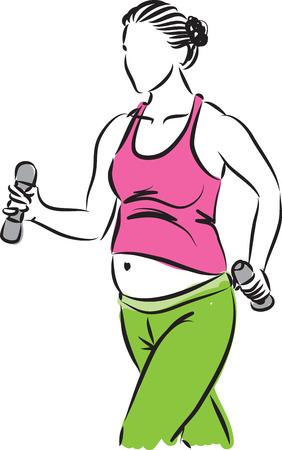 pregnant woman fitness illustration
