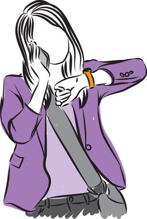Femme maquillage illustration Banque d'images - 57155969