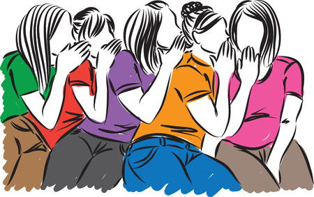 vrouwen roddelen illustratie