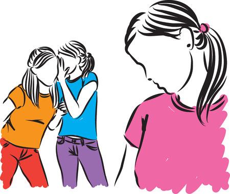 girls teenagers gossip illustration