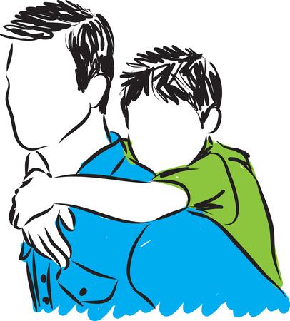 Padre e hijo ilustración Foto de archivo - 58992706