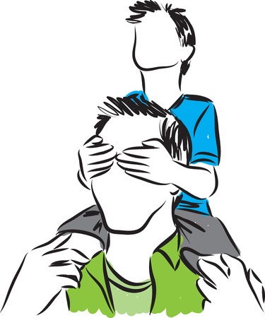 stock photograph: father and son illustration