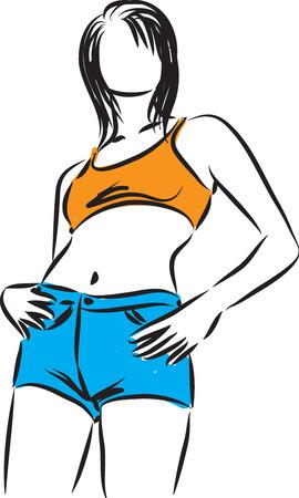 modeling: pretty woman modeling illustration