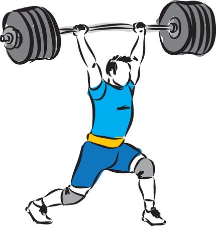 levantamiento de pesas hombre ilustración