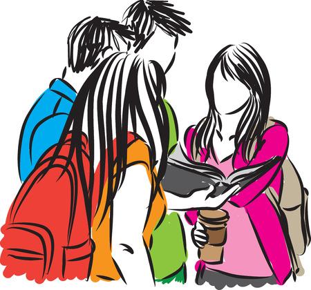 playmates: grupo de estudiantes de la ilustración
