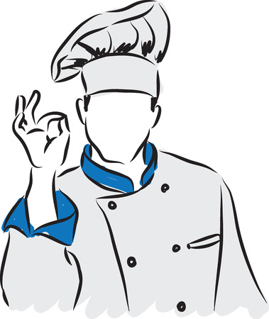 MAN CHEF ILLUSTRATION  GESTURE