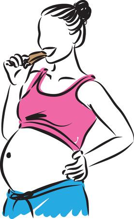 pretty woman in bikini illustration Illustration
