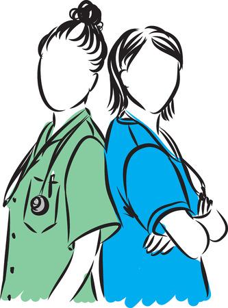 medical staff professional illustration