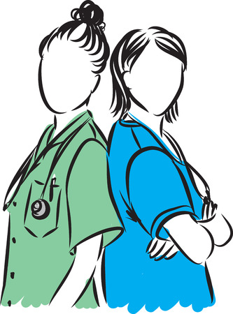 medical staff professional illustration