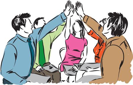 business team work people illustration