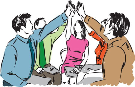 equipo de negocios la gente de trabajo de ilustración