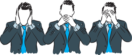 discrete: man communication concept illustration