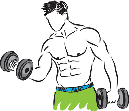 strong: fitness strong man illustration