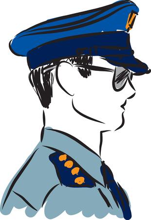 police man vector illustrator Illustration