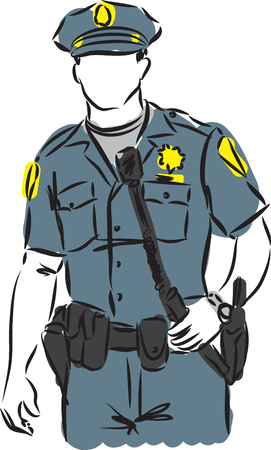 patrolman: policeman vector image illustration