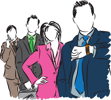 group of workers: group of business people illustration Illustration