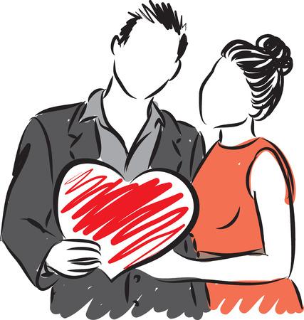 Ilustración de vector de pareja