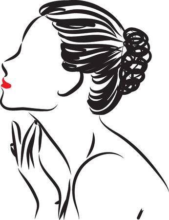 woman skin care illustration