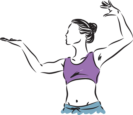 fitness a woman vector illustration