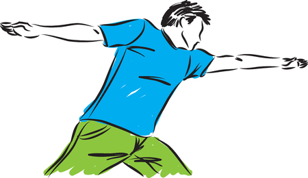 physical exercise: Fitness man vector illustration