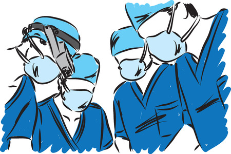 Medical team vector illustration Illustration