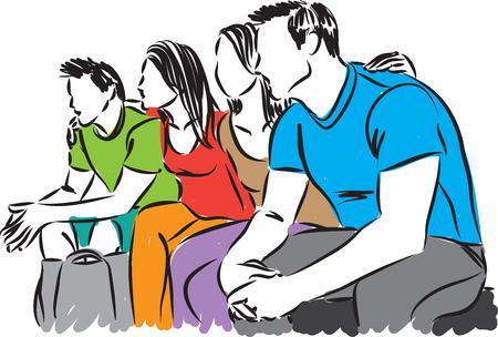 Group friends vector illustration
