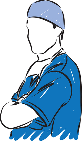chirurgo: Medico medico illustrazione vettoriale Vettoriali