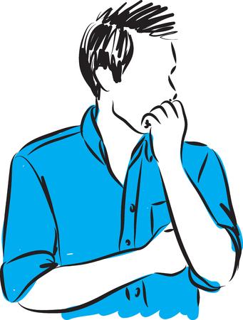 fiasco: worry man verctor illustration