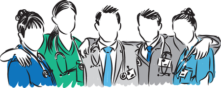 medical doctors: doctors vector medical staff illustration Illustration