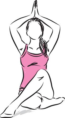 Woman meditation vector illustration Illustration
