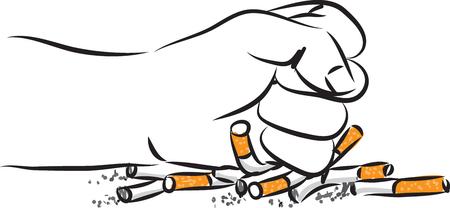 Quitting smoking vector illustration Zdjęcie Seryjne - 77753633