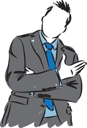 business man vector gesture illustration Ilustração Vetorial