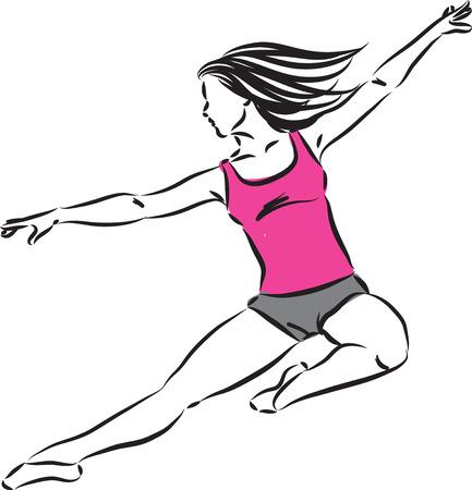 woman dancer vector illustration