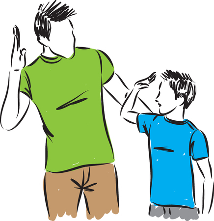 Father and vector illustration