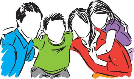 Gelukkige familie vectorillustratie