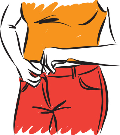 woman with pants weight control vector illustration Illustration