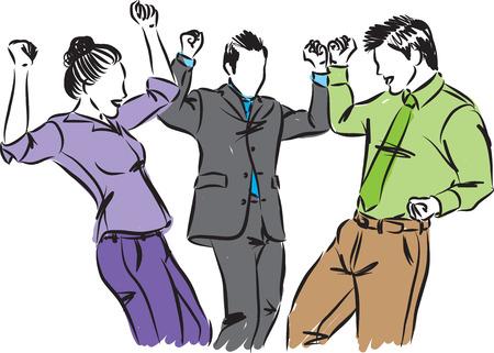 business people having fun vector illustration