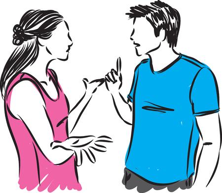 couple talking vector illustration Stock Vector - 82049766