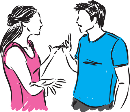 couple talking vector illustration Illustration