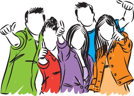 college students vector illustration Иллюстрация
