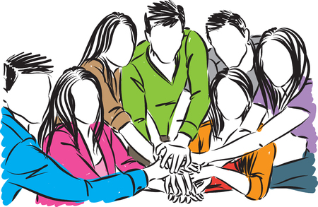 people team concept vector illustration Vettoriali