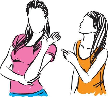 Mujeres luchando ilustración vectorial Ilustración de vector