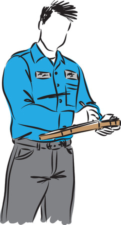 delivery guy vector illustration